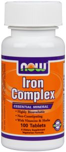 Купить NOW Iron Complex 100tabs в Москве, цена на спортивный витамин NOW Iron Complex 100tabs в интернет-магазине Iw-Shop