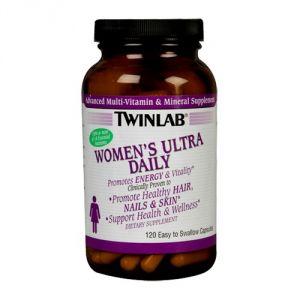 Спортивный витамин TWINLAB Women's Ultra Daily 120caps - купить в интернет-магазине спортивного питания по выгодной цене