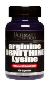 Купить ULTIMATE NUTRITION Arginine-Ornithine-Lysine 100caps в Москве, по доступной цене в интернет-магазине Iw-Shop