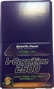 Купить GENETIC FORCE L-Carnitine 2500 30amp в Москве, цена на L-carnitin GENETIC FORCE L-Carnitine 2500 30amp в интернет-магазине Iw-Shop